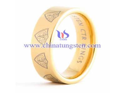 Gold Plated Tungsten Ring Picture